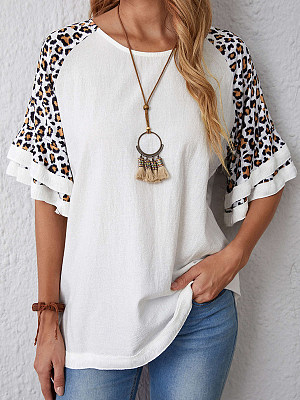 Printed Loose Casual Round Neck Short Sleeve T-shirt