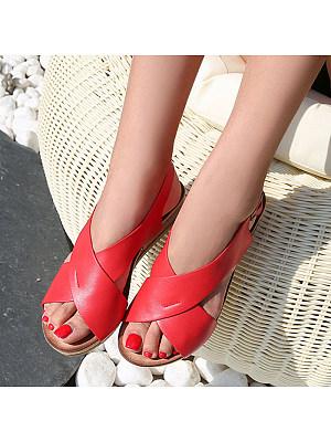Vintage Wedge Roman Shoes Sandals, 23617807