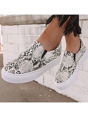 Women's Fashion Print Contrast Casual Shoes, 10709595