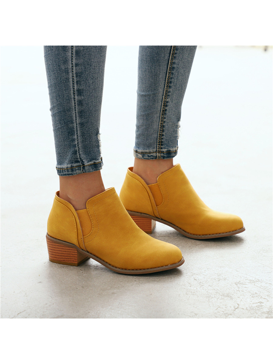 Women's casual round toe stitching Martin boot - from $26.95