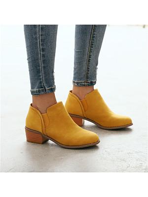 Women's casual round toe stitching Martin boot, 10679145