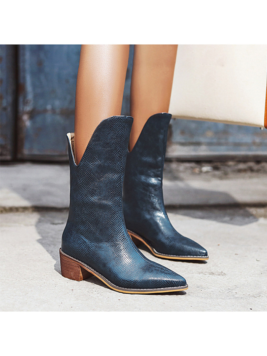 Fashion pointed middle heel women's Boots - from $36.95