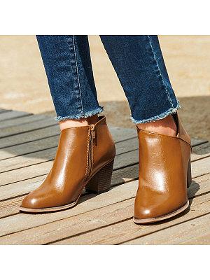 berrylook Women's Fashion Thick Heel Boots