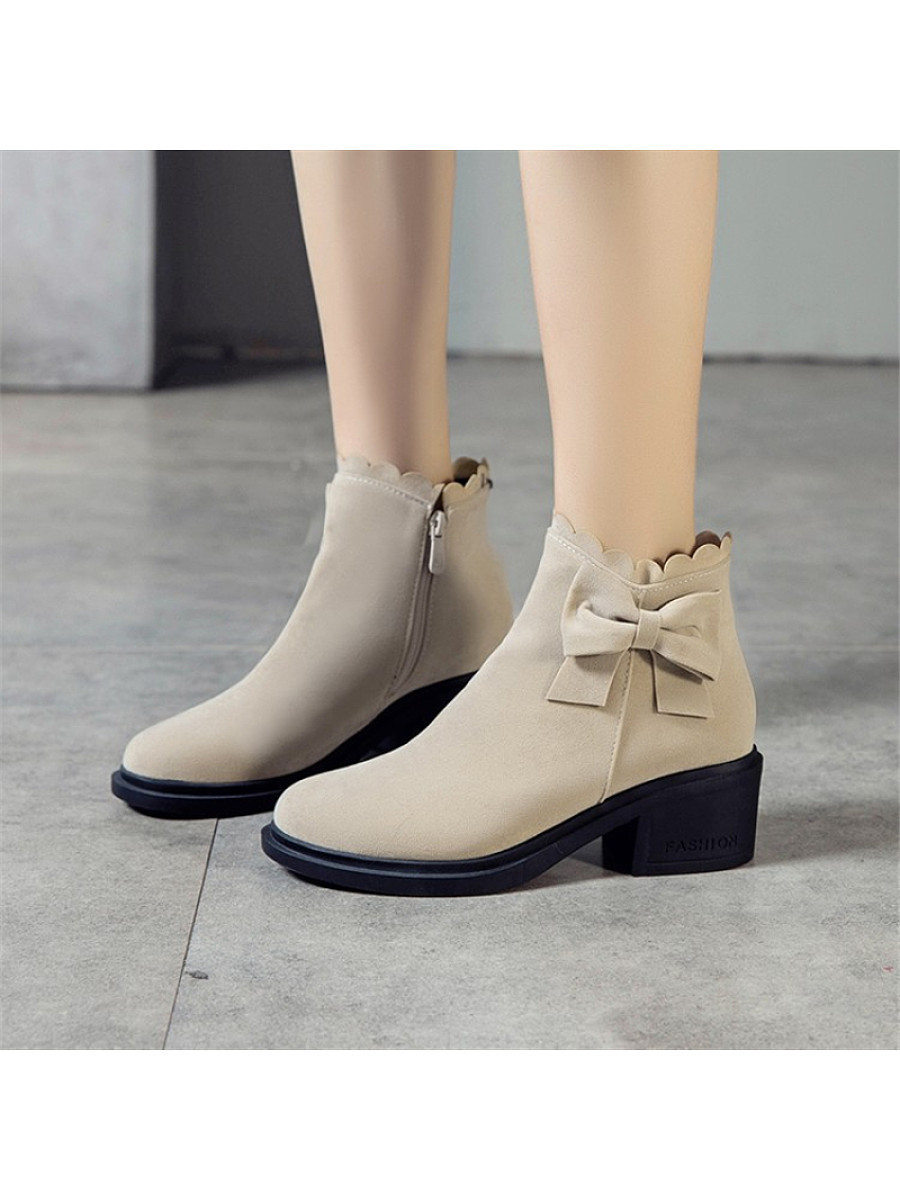 Women's fashion bow ankle boots - from $32.95