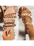 Women's  flat bottom rhinestone decorative beach slippers