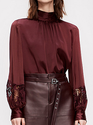 Womens Commuting Bowknot Long Sleeve Blouse, 11261855