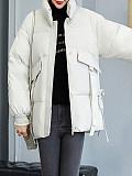 Image of Thick Padded Jacket Short Coat