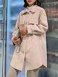 Image of Shearing wool coat ladies mid-length fur coat lamb hair