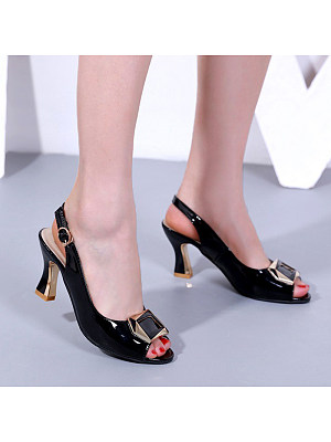Behind the fish mouth shallow shallow rhinestone high heel