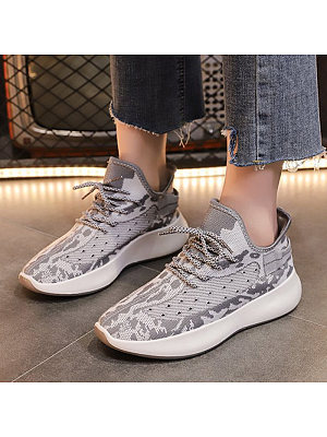 Women's Fashion Colorblock Breathable Sneakers, 10970715
