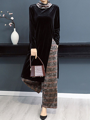 Fashion two-piece suit casual color matching casual loose suit