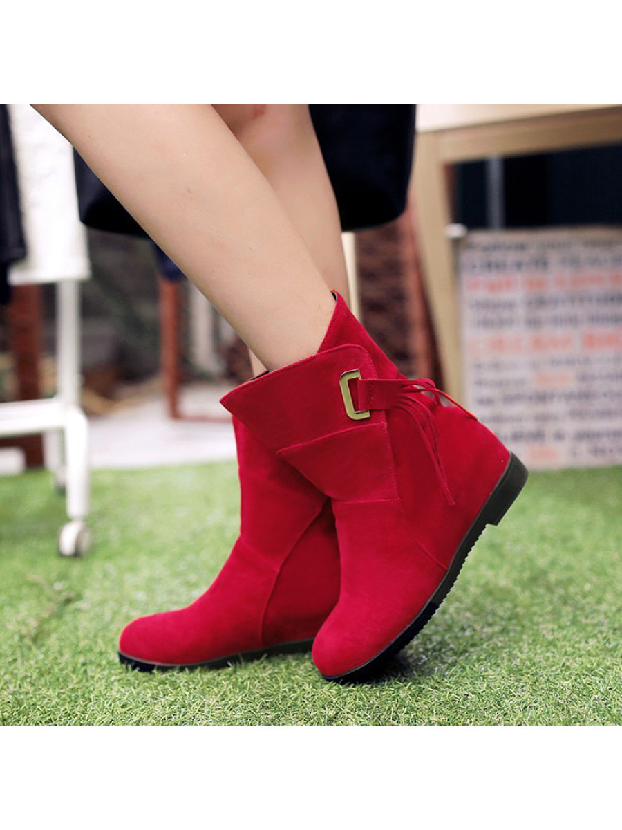 Fashion buckle fringe solid women's Boots - from $30.95