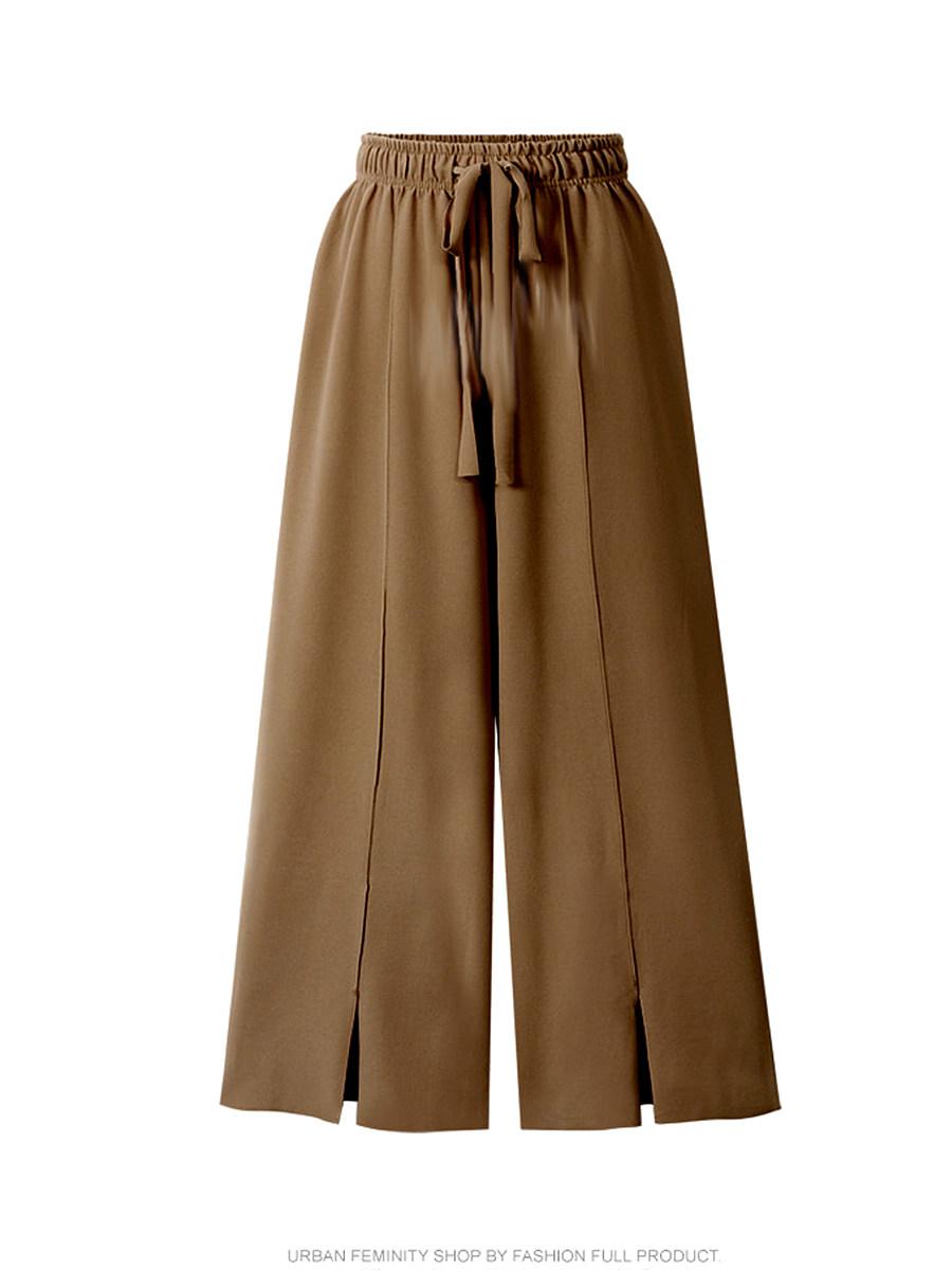 BerryLook Fashion casual split wide-leg pants nine-point pants