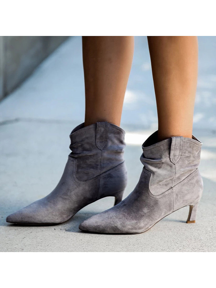 Women's Fashion Mid Heel Pointed Boots - from $28.95