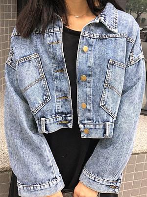 Cropped lapel jacket