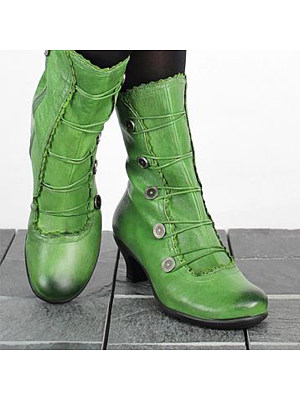 berrylook Retro shaped and low boots with large size women's boots