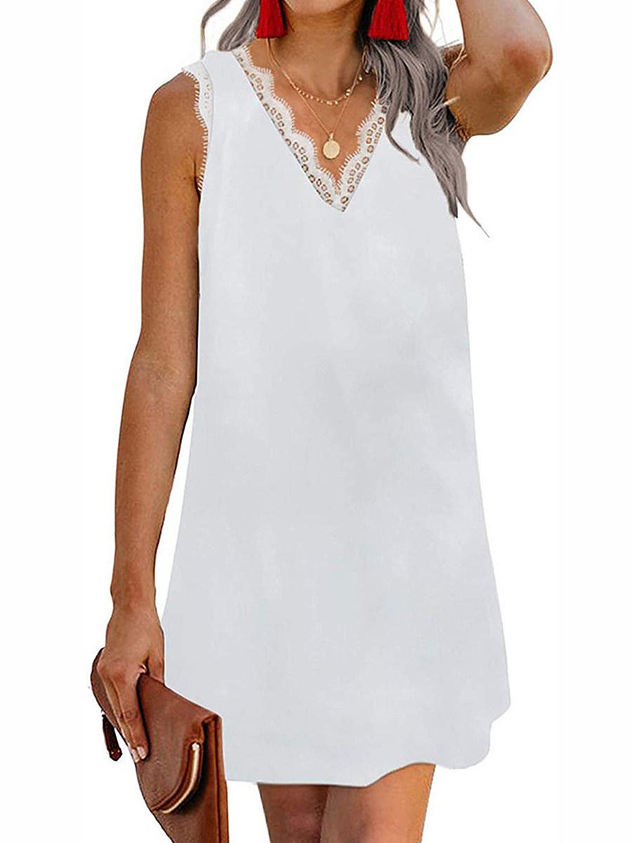 V- Neck Printed Shift Dress