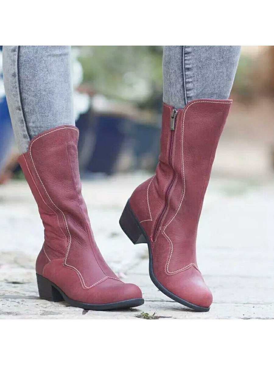 BerryLook Square with low heel boots