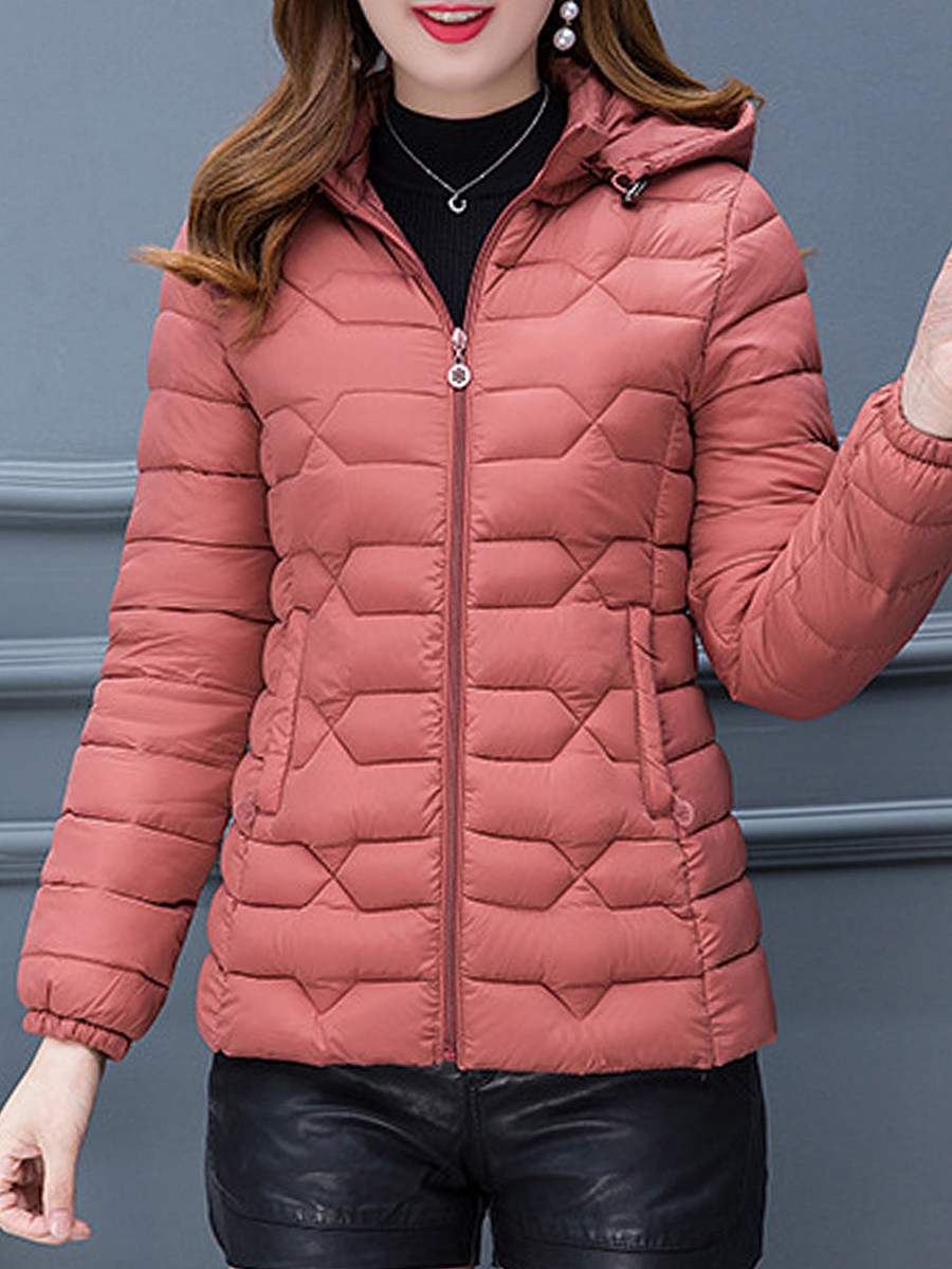 Solid color Slim warm small cotton coat - from $29.95