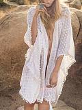 Bikini blouse, beach cutout bandage, sun protection clothing, seaside vacation hot spring swimsuit and cardigan