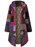 Image of Oversized Retro Hooded Padded Jacket