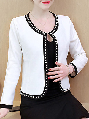 Women suit jacket gender:woman, season:autumn,spring, sleeve_length:long sleeve, style:japan and south korea, dress_occasion:daily, bust:96,clothing length:56,shoulder width:41,