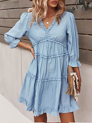 Berrylook V-neck sexy dress casual vacation style shoppers stop, online stores, shirt dress, floral maxi dress