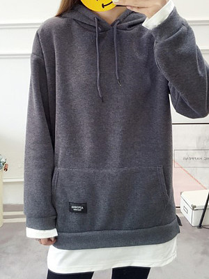 Hooded long-sleeved fashion casual sweatshirt, 10659675