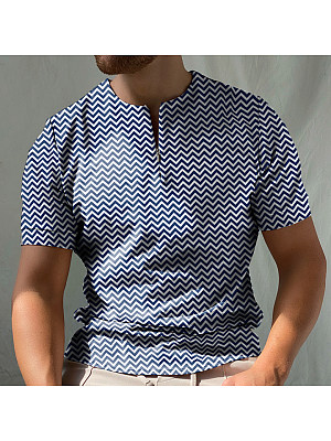 Wave short sleeve polo shirt, 27525841, BERRYLOOK  - buy with discount