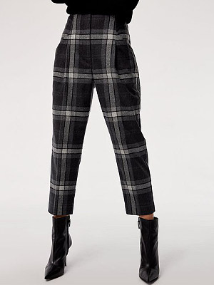 Autumn and winter new plaid woolen harem pants фото