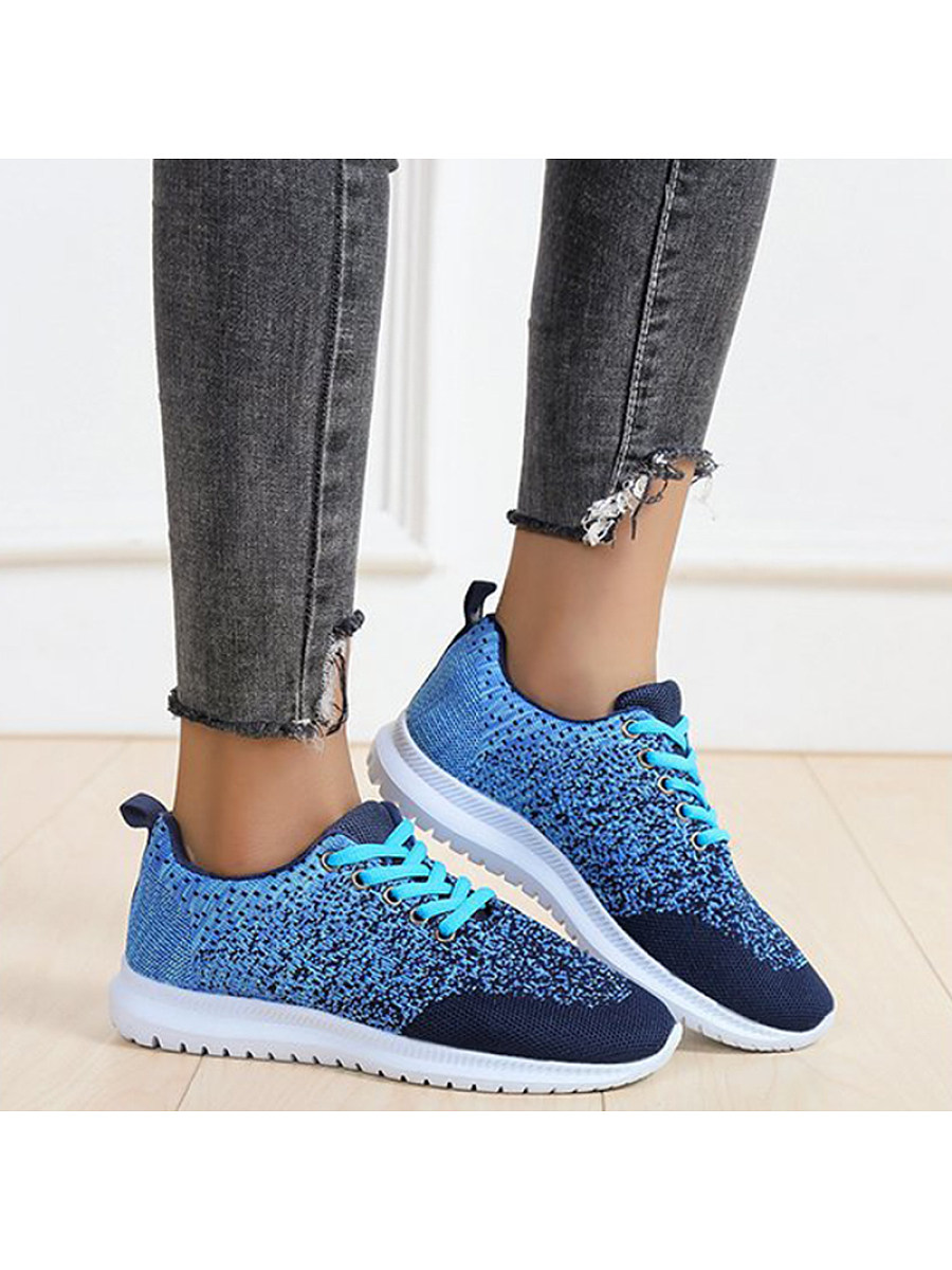 Women's Casual Colorblock Mesh Breathable Sneakers - from $23.95