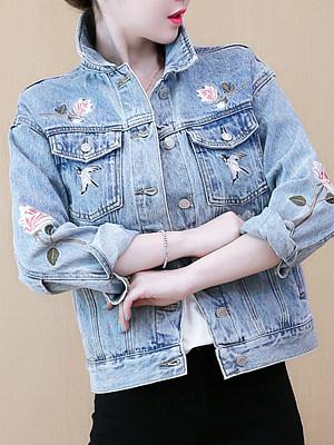 Fashion Embroidered Print Jacket, 11397900