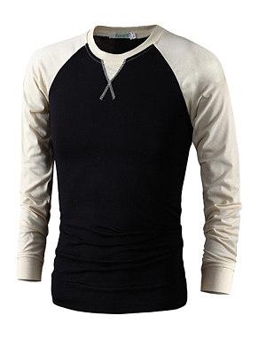 Berrylook coupon: Casual fashion raglan sleeve long sleeve T-shirt