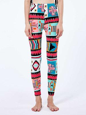 BERRYLOOK Fashion geometric print color casual leggings