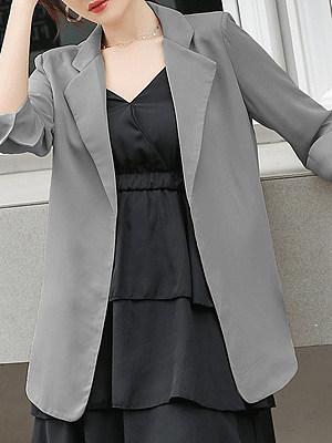 Temperament cropped sleeve suit Blazer