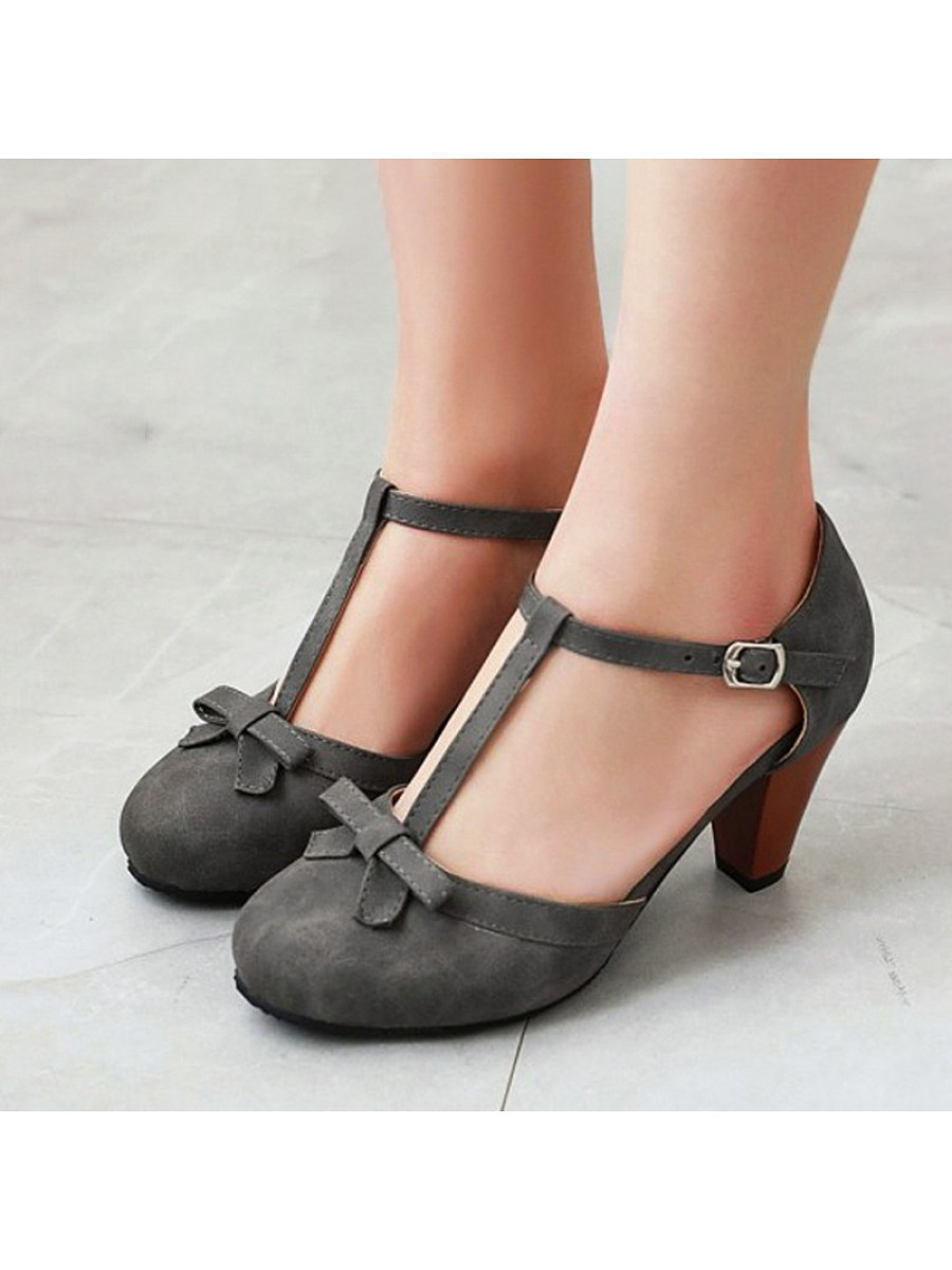 BerryLook Comfortable fashion vintage high heels