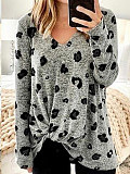 Image of Autumn And Winter V-neck Long Sleeve T