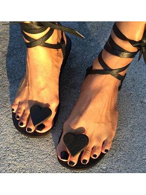 European and American fashion flip-toe flat sandals, 11230185