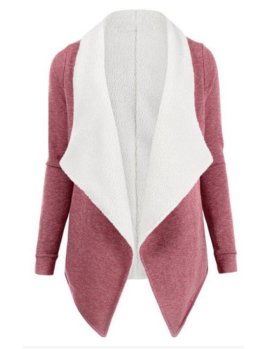 Fashion Lambswool Lapel Cardigan coat