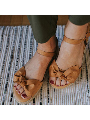 Bow flat sandals, 11265920