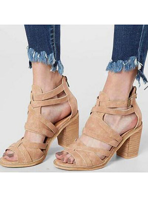 Fashionable wild block heel women sandals, 11230234