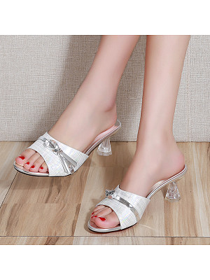 Bow fish mouth slippers, 11411599