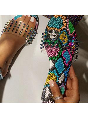 European and American flat-bottomed fashion rhinestone slippers, 11230895