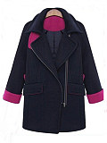 Image of Large size loose and thin hooded cardigan woolen coat