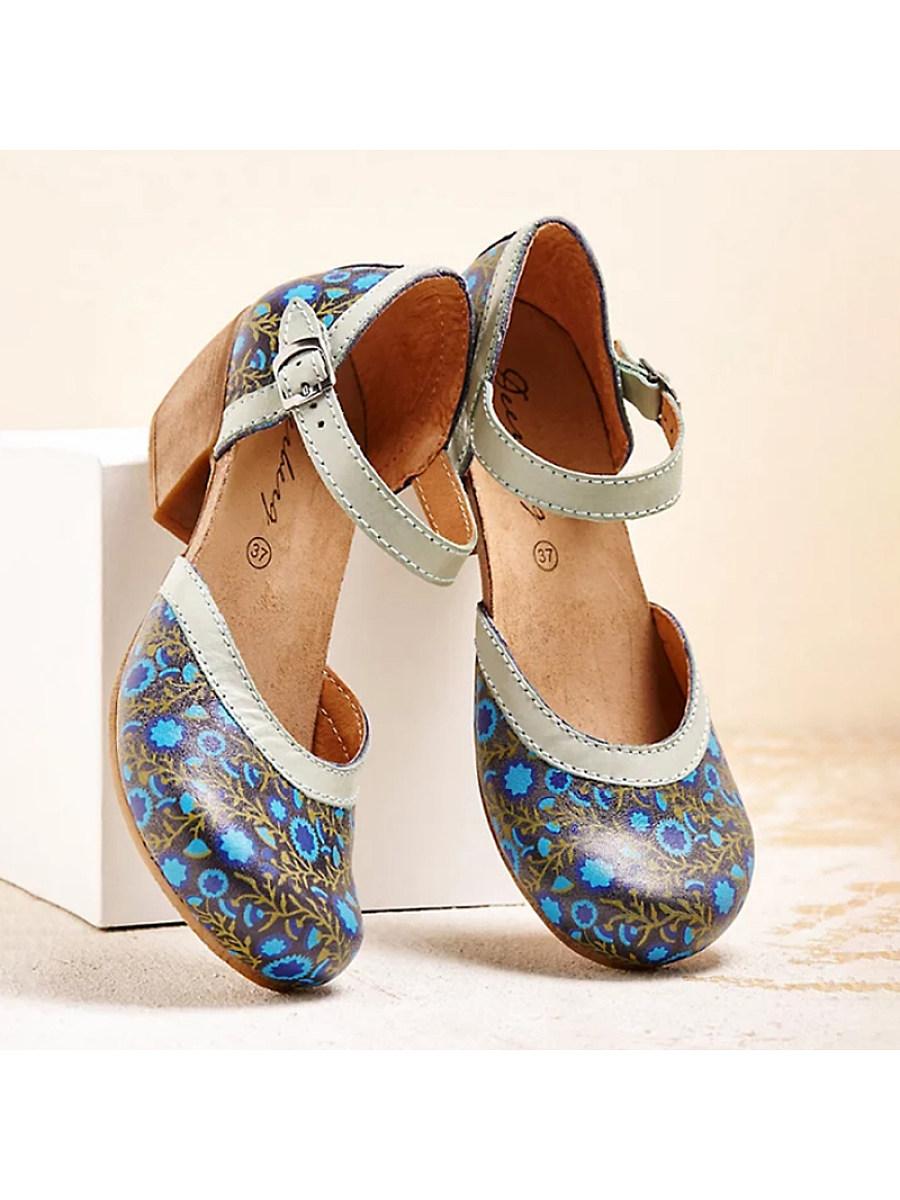 BerryLook Women's comfortable mid-heel sandals