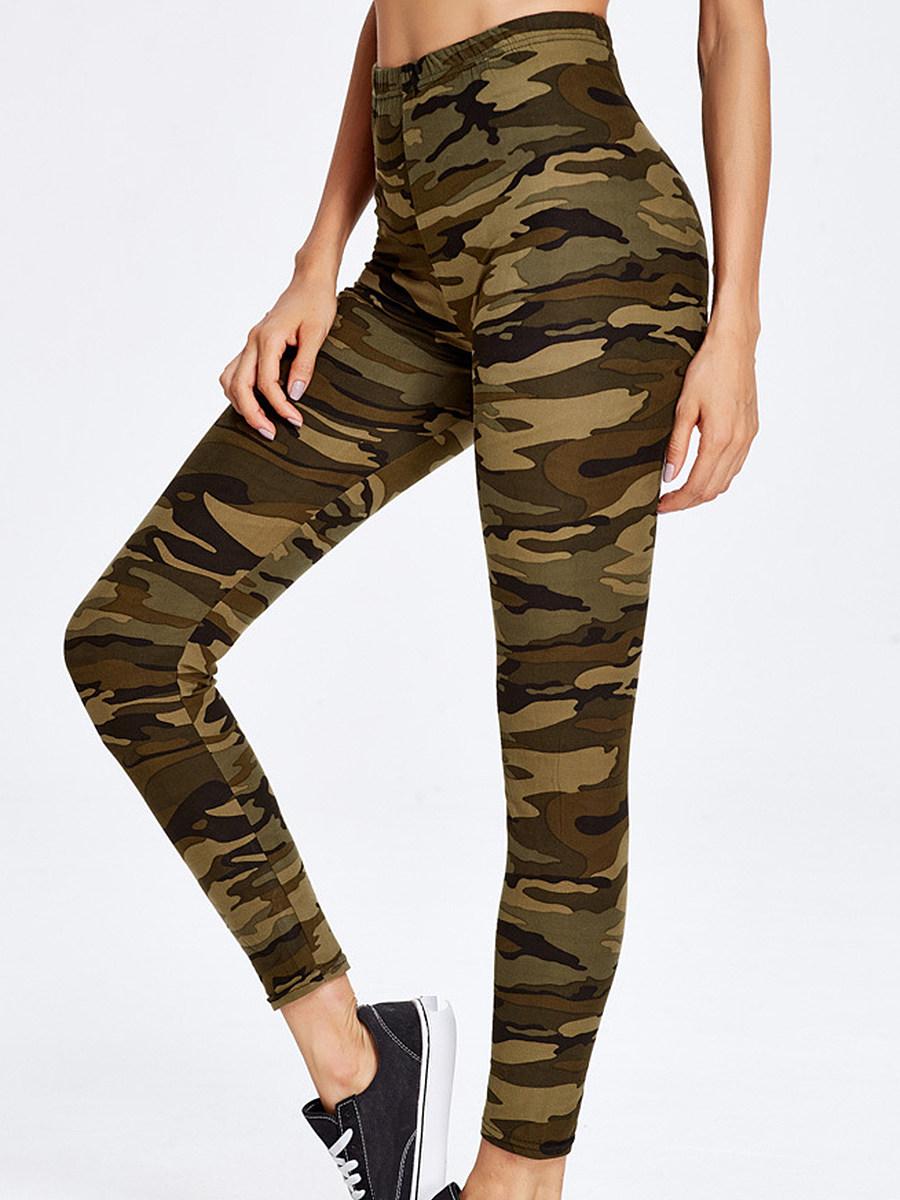 Camouflage slim stretch leggings