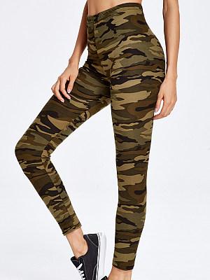 Camouflage slim stretch leggings фото