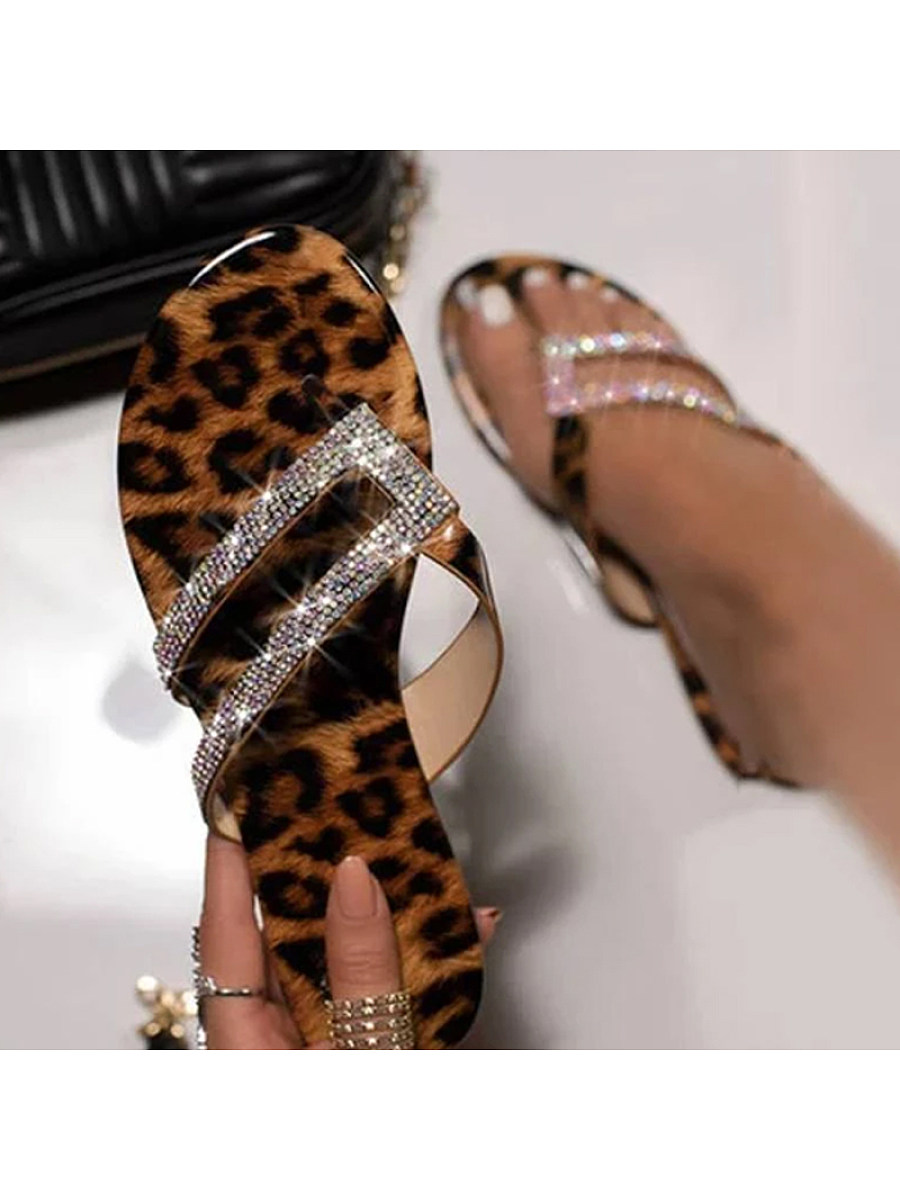 BerryLook Leopard casual fashion beach sandals