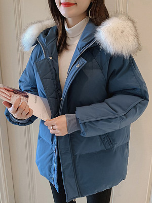 Women's Fashion Short Down Coat gender:female, season:autumn,winter, texture:polyester, sleeve_length:long sleeve, sleeve_type:regular sleeve, style:japanese and korean style, collar_type:hat collar, dress_occasion:daily, bust:126,clothing length:74,shoulder width:45,sleeve length:63,