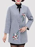 Image of Plus Size Woolen Coat Padded Coat